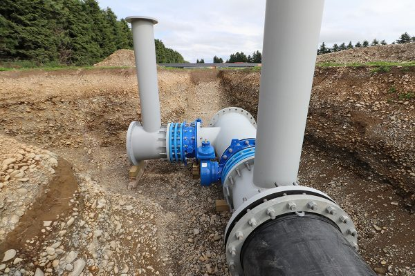 Butterfly Valve on Central Plains Irrigation Pipeline