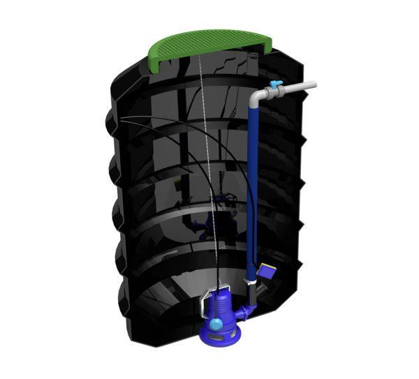 Zenit 1500L Pump Chamber