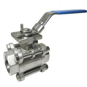 Hydrotite 3 Piece Ball Valve Full Bore BSP Direct Mount