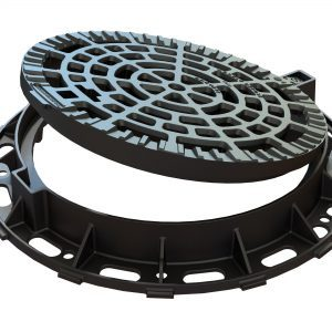 EJ Solo Hinged Manhole Cover Open